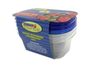 3 Pack Rectangular Food Containers With Lids