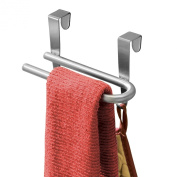 InterDesign Forma Ultra Over Cabinet U-Bar with Hooks, Brushed Stainless Steel, 20.3cm