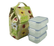 Kid's Lady Bug Lunch Sack with 3 R2 SnapTainers