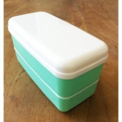 Microwavable Bento Box Lunch Box Set with Chopsticks Green