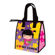 Japanese Asian Girl Small Lunch Bag Tote / Cooler