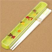 white Bento Chopsticks with animals & instruments