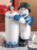 Snowman Winter Christmas Standing Paper Towel Holder