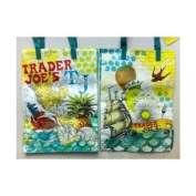 Set/2 TRADER JOE'S REUSABLE SHOPPING TOTE GROCERY BAGS