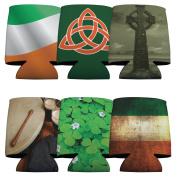 Irish Heritage Koozie Set - 6 Different Designs - Set of 6