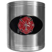 Siskiyou Gifts Firefighter Steel Can Cooler