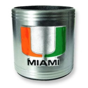 University of Miami Insulated Stainless Steel Can Cooler