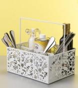 Design Ideas Vinea Condiment Caddy, White