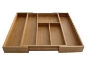 Axis 4138 Expandable Bamboo Utensil Drawer Organiser