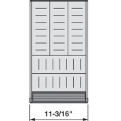 Hardware Distributors BZHI.533BI3A 11 - .48.3cm . Orga Line for Wood Drawers - Stainless Steel