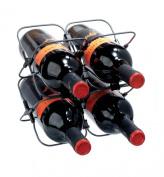 Metrokane 4-Bottle Wine Rack