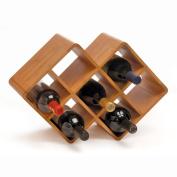 Oenophilia 10095 Bamboo 8 Bottle Wine Rack