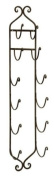 104.1cm Ornate Wall Mounted Wrought Iron Towel and Wine Rack