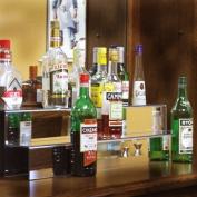 86.4cm 2 Tier Liquor Bottle Shelf - Mirror Finish