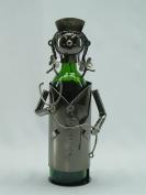 Fabulous Genunie Hand Made Caddy Lady Nurse Metal Wine Bottle Holder