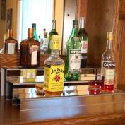 61cm 3 Tier Liquor Bottle Shelf - Mirror Finish