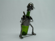 Fabulous Genunie Hand Made Caddy Baseball Metal Wine Bottle Holder