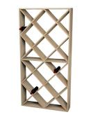 Wine Cellar Innovations Rustic Pine Solid Diamond Bin Wine Rack for 208 Wine Bottles, Unstained