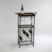 Cyan Design New York Wine Stand in Mahogany and Copper