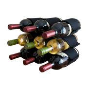 Felt Wine Rack - 9 Bottles - Black