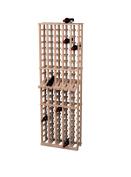 Wine Cellar Innovations Traditional Premium Redwood 5 Column Wine Rack with Display Row, Unstained