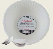 """""""What Is It."""" Reusable White Soup or Cereal Bowls, 15.2cm Melamine, Set of 4"""
