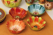 Bowls 380ml, Hand Painted Ceramic, Field of Flowers