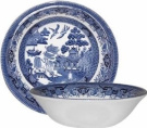 Churchill Made in England Blue Willow Pattern 20.3cm Coupe Soup Cereal Bowl
