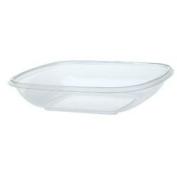 Sabert Bowl 2TM Clear Square Bowl - 1420ml, Large