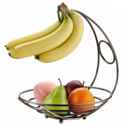American Dream Fruit Basket with Banana Holder - Bronze Plated
