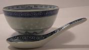 Bowl & Spoon set Ceramic Rice Pattern Guaranteed quality