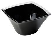 KDG International Omada Square Shaped Elegant Bowl, 13.5cm , Black