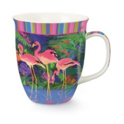 Pink Flamingos in Tropical Paradise Coffee Latte Tea 470ml Harbour Mug Cup