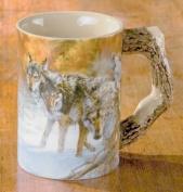 Body Language Wolf Sculpted Mug