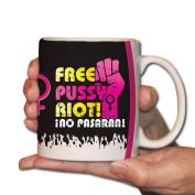 Free Pussy Riot! Black Mug - 440ml