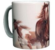 Horse Themed 330ml Ceramic Coffee Mug or Tea Cup