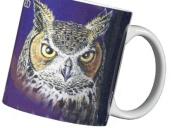 Great Horned Owl 330ml Ceramic Coffee Mug or Tea Cup