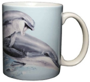 Leaping Dolphins 330ml Ceramic Coffee Mug