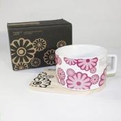 SYNC - [Flower Pink] Espresso Cup / Wood Coaster