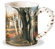 Backwoods Cabin Sculpted Mug by Terry Redlin