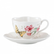 Lenox Butterfly Meadow Tiger Swallow Tail Cup and Saucer Set