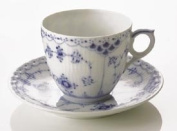 Royal Copenhagen Blue Fluted Half Lace Coffee Cup & Saucer 180ml
