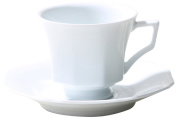 Auratic ZSHI Cup and Saucer Set, Service for 2, Super White