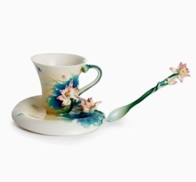 Franz Porcelain Lotus Harmony Cup Saucer Spoon