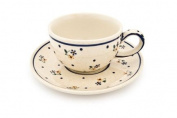 Polish Pottery Country Meadow Cup & Saucer