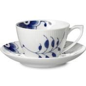 Royal Copenhagen Blue Fluted Mega Tea Cup Saucer