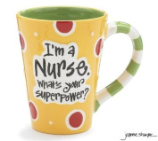 "Nurse 350ml Coffee Mug/cup with ""I'm A Nurse"" What's Your Super Power."" Great Gift For Nurses"