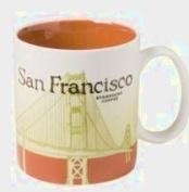 Starbucks 2011 San Francisco Golden Gate Bridge City Mug