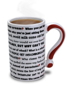 Big Mouth Toys The Questions Mug