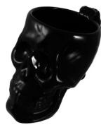 Cool Black Ceramic Skull Coffee Mug Cup Goth Evil